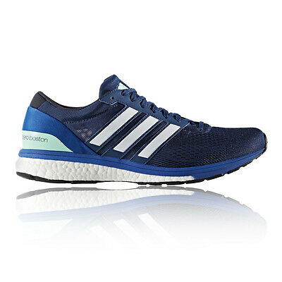 Adidas Adizero Boston 6 Mens Blue Cushioned Running Sports Shoes Trainers Pumps