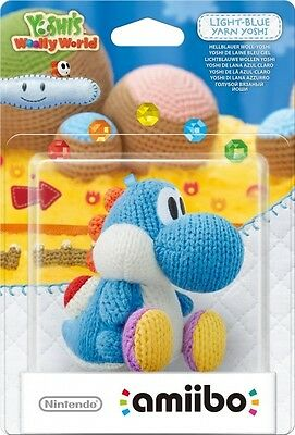 Amiibo Yarn Yoshi Light Blue  - Wii UBRAND NEW