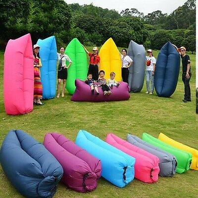 2017 NEW Lazy Inflatable Couch Air Sleeping Sofa Lounger Camping Bed Portable