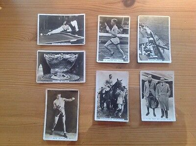 Lot Of 7 Cards, J A PATTREIOUEX, Sporting Events & Stars Cigarette Cards,