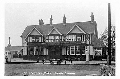 pt1026 - The Chequers Hotel , South Elmsall , Yorkshire - photo 6x4