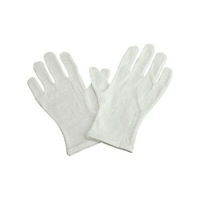 Sealike 6 Pairs Disposable Lightweight White Cotton Gloves Film Coins CD/DVD