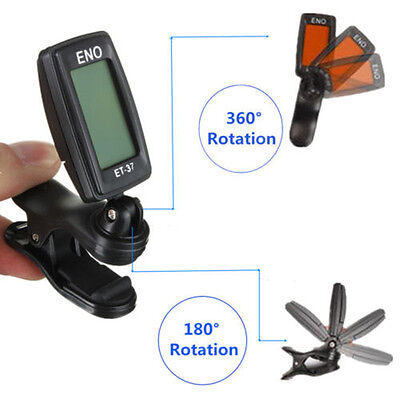 LCD Clip-On Backlight Electric Chromatic/Guitar/Bass/Violin/Ukulele Tuner