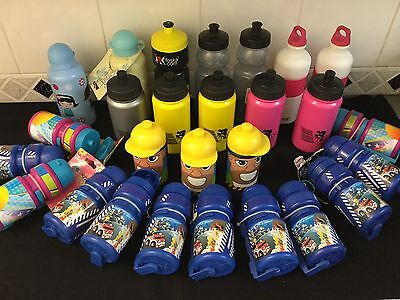 Job Lot Of 27 NEW Children's Sports Water Bottles FREE POSTAGE