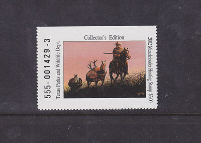 State Hunting/Fishing Revenues - TX - 2002 Muzzleloader - Coll. Ed. ($3) - MNH
