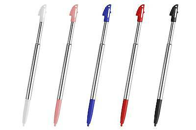 5x 3DS XL LL Silver Stylus Metal Retractable Touch Pen for Nintendo - New