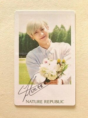 Exo Chanyeol Nature Republic Official Photocard Polaroid Kpop
