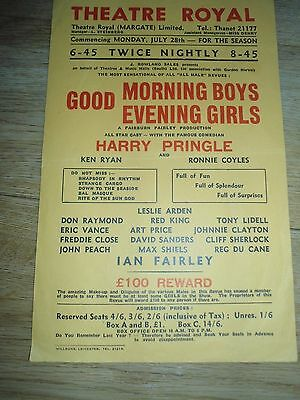 Original Theatre Flyer  Good Morning Boys And Girls Theatre Royal Margate