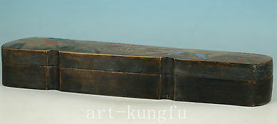 Rare Chinese Old Bronze Collection Handmade Carved Flower Tea Caddy Box