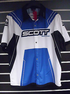 Scott MX Line MX Motocross Pit Home Garage Vented Short Sleeve Shirt - Clearance