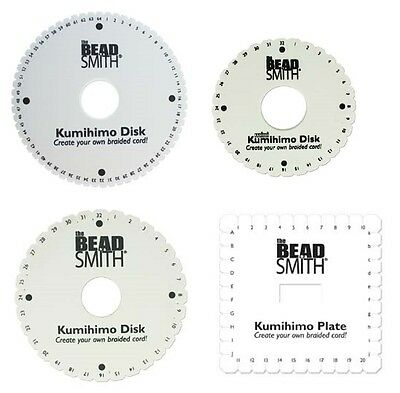 """Beadsmith Kumihimo Braiding Disc WITH INSTRUCTIONS 6"""" 4.25"""" Square Round 64 slot"""