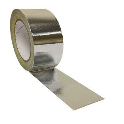 Yuzet Aluminium Foil Tape Self Adhesive Heat Insulation Bright Silver Lined duct