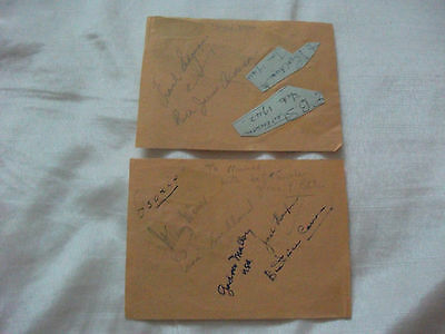 Tennis Signed Autograph Book Pages By19? 1940 S Gardner Mulloy Frank Sedgman ++