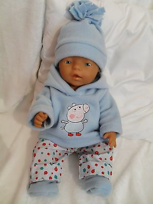 """17"""" Dolls Clothes Handmade To Fit 43Cm Baby Born Doll Or Sim"""