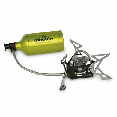 PINGUIN Pyro Multifuel Kocher -Benzin Gas Petroleum Outdoor Gaskocher + Flasche!