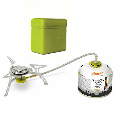 PINGUIN Gaskocher Spider -Mini Campingkocher Trekking Outdoor Gas Kocher faltbar