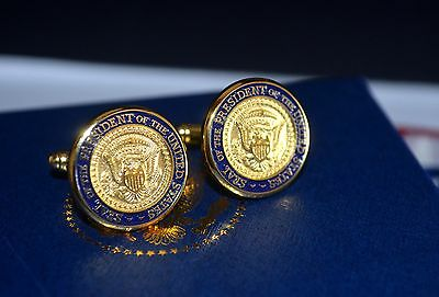 Ronald Reagan Signed Seal Of The President Of The United States Cufflinks