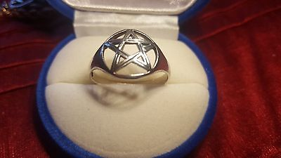 925 Silver Ring with Pentogram size T