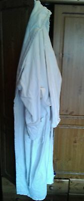 white towelling dressing gown size s/m