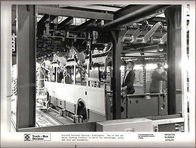 Leyland National Bus Factory Workington original b&w Press Photograph No.226480