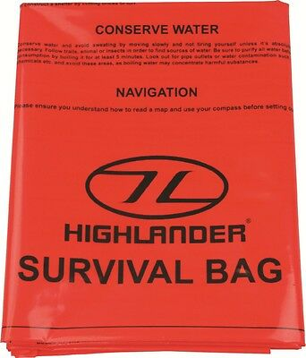 Highlander/Pro-force SURVIVAL BAG Bivi Bag Survival Emergency Bushcraft Walking