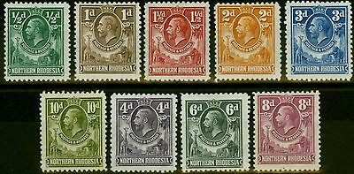 Northern Rhodesia 1925 set of 9 to 10d SG1-9 Mtd Mint