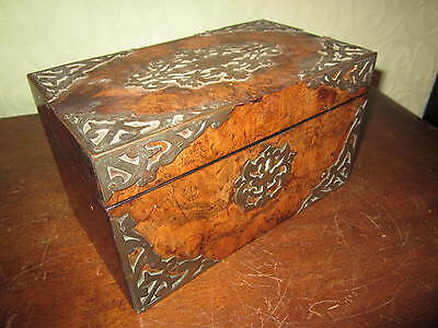 An old Victorian box with ornate brasswork for restoration