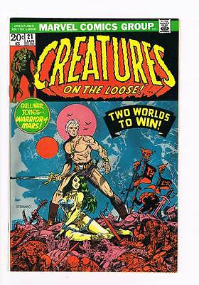 Creatures on the Loose # 21 Gullivar Jones grade 9.0 scarce book !!