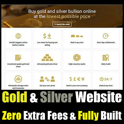 Website - Gold & Silver - Trading Business - For Sale - Home Online Business