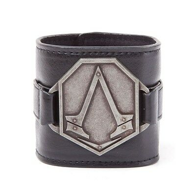 Assassin's Creed Metal Logo PU Wristband Brand New