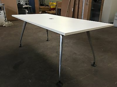 White Office Meeting Table Boardroom Table | Conference Meeting Table 1.8m