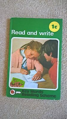 Ladybird 'Read and Write' 1c book