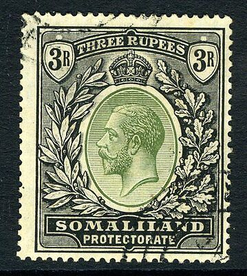 SOMALILAND-1921 3/- Dull Green & Black.  A fine used example Sg 84