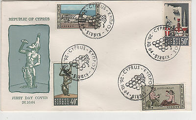 """Cyprus - 1964 """"wines"""" First Day Cover"""