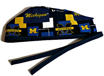 Men's Surgical Scrub Cap Hat in Michigan Wolverines New Block by Crazy Caps