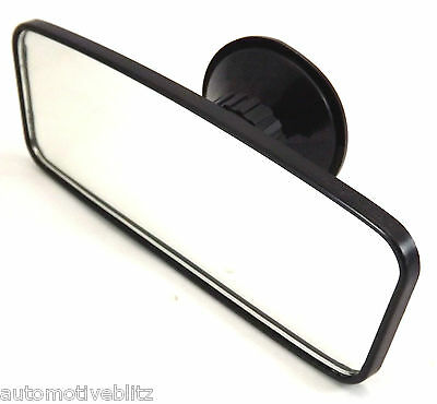 Car Rear View Interior Mirror Universal Suction Black Baby Safety