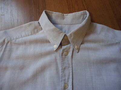 Vintage CERRUTI 1881 Button Down Collar Cotton & Wool Shirt 15 1/2 15.5 39