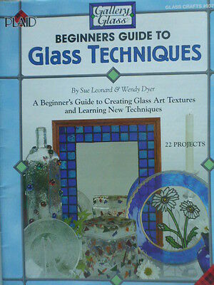 Beginners Guide to Glass Techniques Gallery Glass 1997 Sue Leonard  Plaid #9370