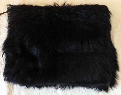 Victorian Antique LONG HAIR MONKEY FUR MUFF 1900-20 Hand Warmer PURSE