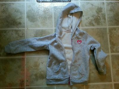 Girls Jumping beans Gray pink hooded jacket 5 5t fall outerwear