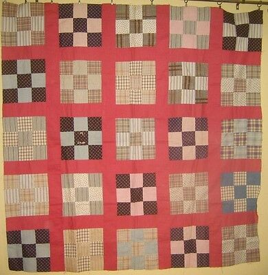 Antique Nine Patch Quilt Top c.1880