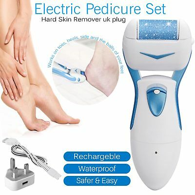 Electric Hard Dry Skin Callus Remover Spin Roller File Feet Foot Care Pedicure