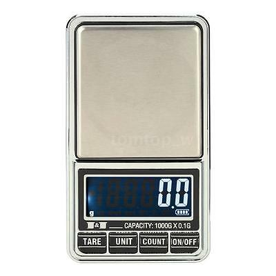 1000g*0.1g USB LCD Mini Digital Scale Jewelry Pocket Balance Carrying Pouch Z5G7