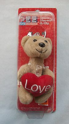 Pez Key Chain ~ Cuddle Cubs ~ Bear with Heart ~ Valentine 2006 ~ MOC