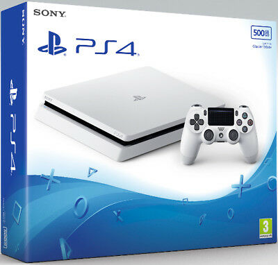 Nuova Sony Console Playstation 4 White Chassis D 500 Gb Ps4 Offerta + 2 Giochi !
