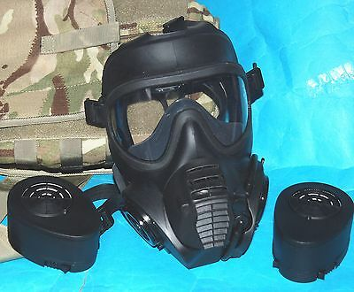 British Army Gsr Gas Mask With Filters & Mtp Haversack Sized 4: