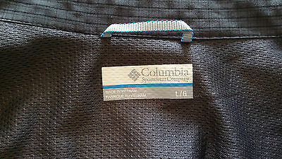 EUC Columbia Men's Casual Charcoal Shirt Size Large L