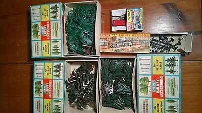 Merit 00 gauge Trees 3x boxes Lamps and Telephone booth all boxed