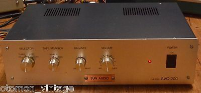 Sun Audio SVC-200 stereo tube pre-amplifier with rectifier tube version * VG++