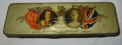 1910 - 1935 Silver Jubilee Cadburys Tin. King George V & Queen Mary.